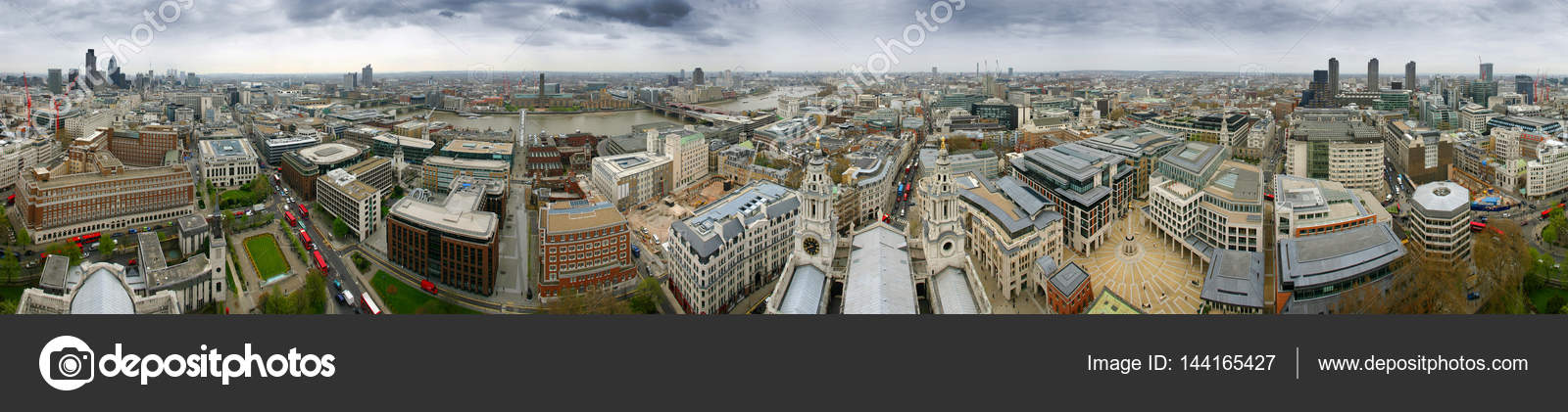 Panoramic View 360 Degree From Top Of St Pauls Cathedral In London