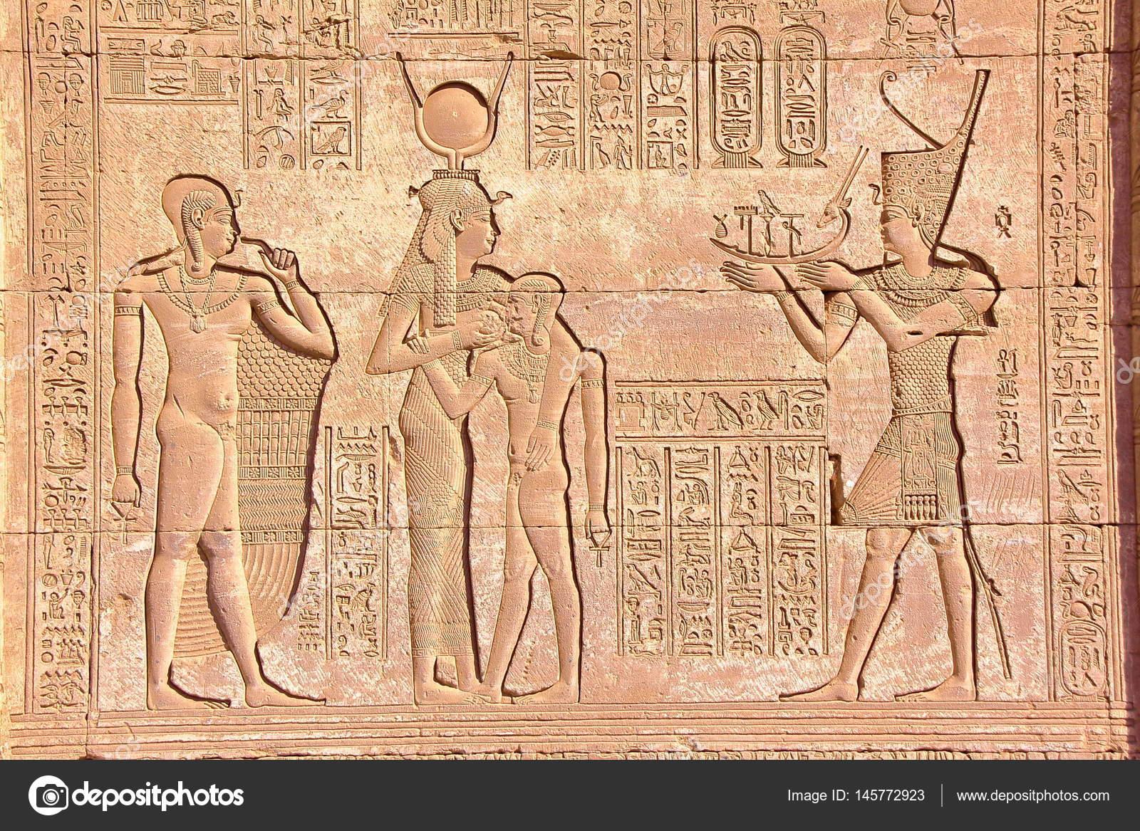 dendera no egito hieróglifos no templo de dendera dedicado à