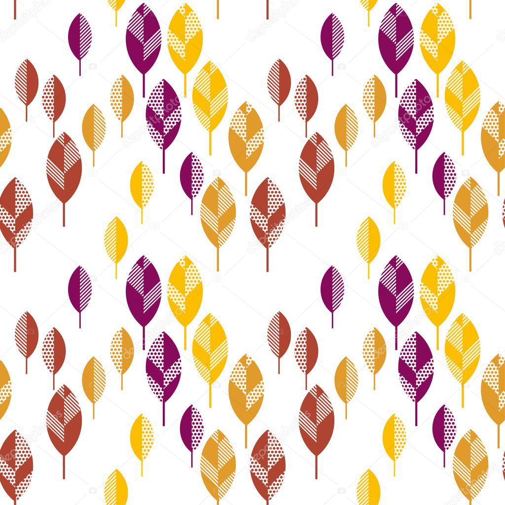 hojas de otoño vector ilustración abstracta. ingenio de patrones sin ...