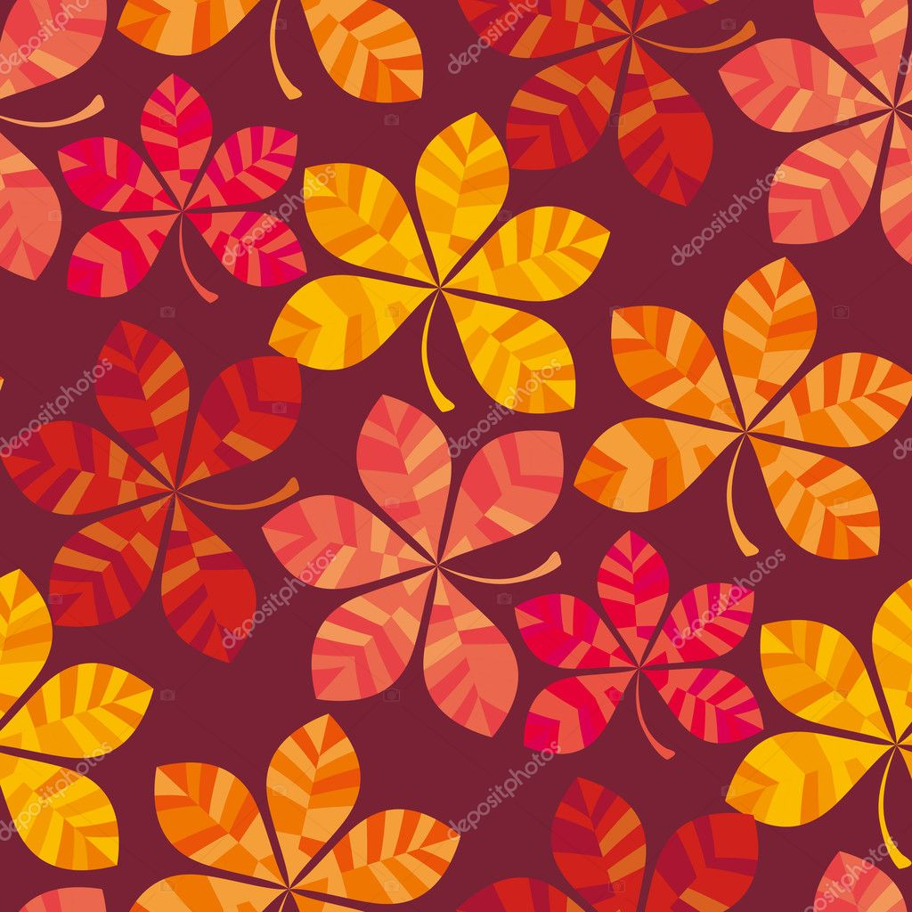 fall colored wallpaper vector illustration. wrapping paper motif ...