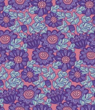 chrysanthemum flower seamless design. decorative aster vector il