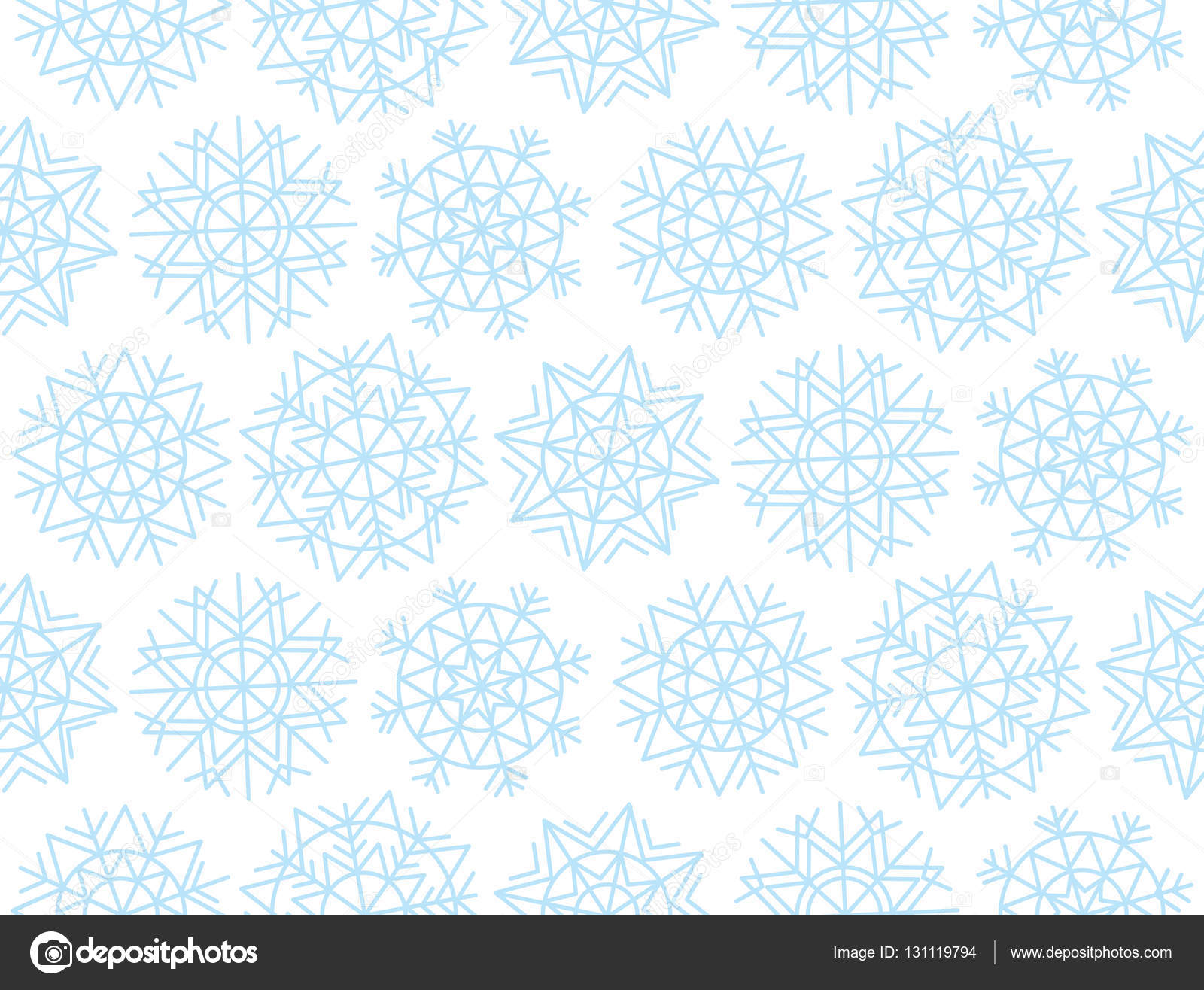 Weihnachten Schneeflocken Hintergrund. Xmas nahtlos mit dekorativen ...