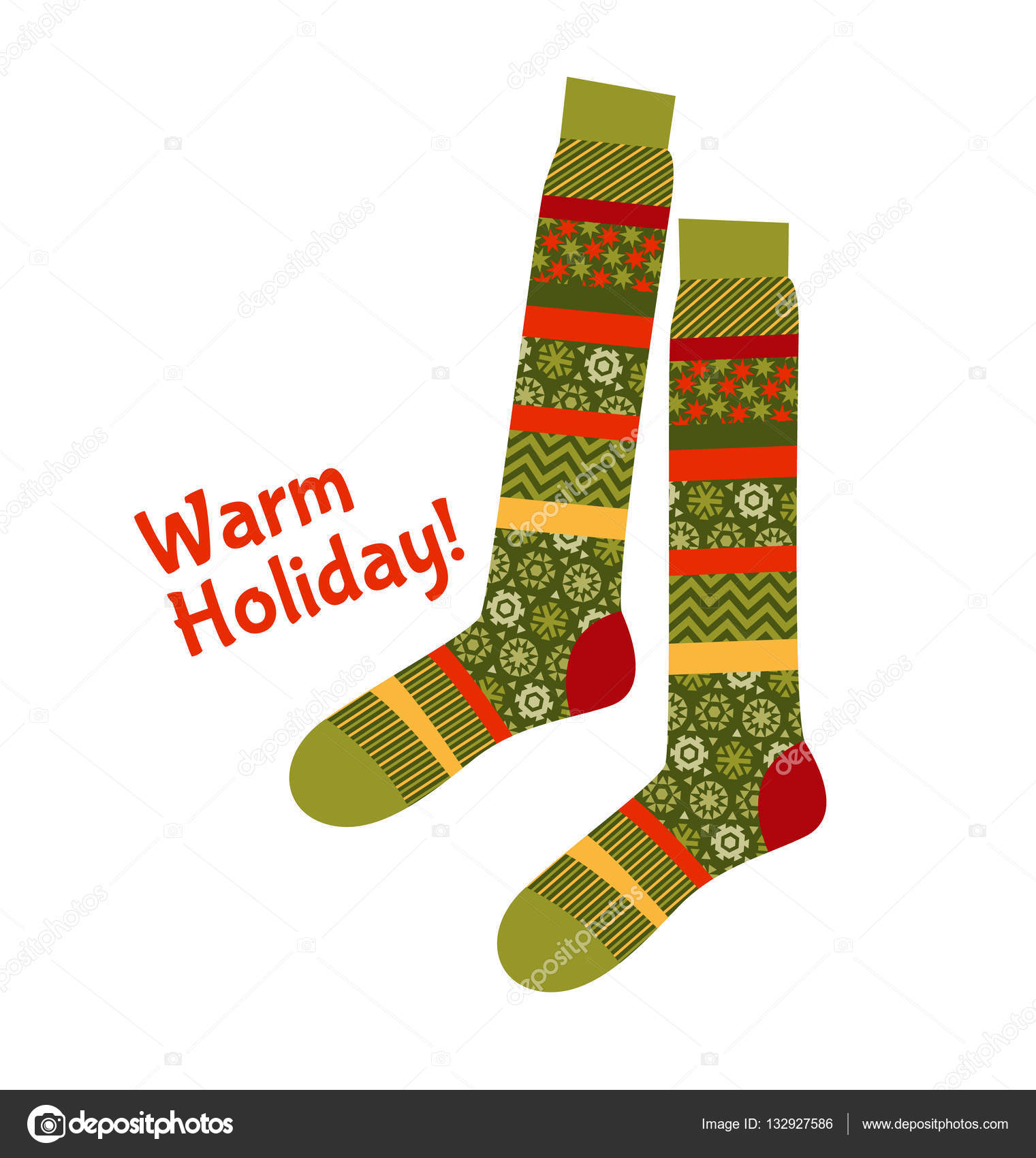 Vánoční pruhované ponožky ve stylu patchwork. Vánoční vzor vektorové  ilustrace. Selské stylu patch tkaniny mozaiky pro hřejivé vánoční pozdravy  — Vektor od ... 375146ad21