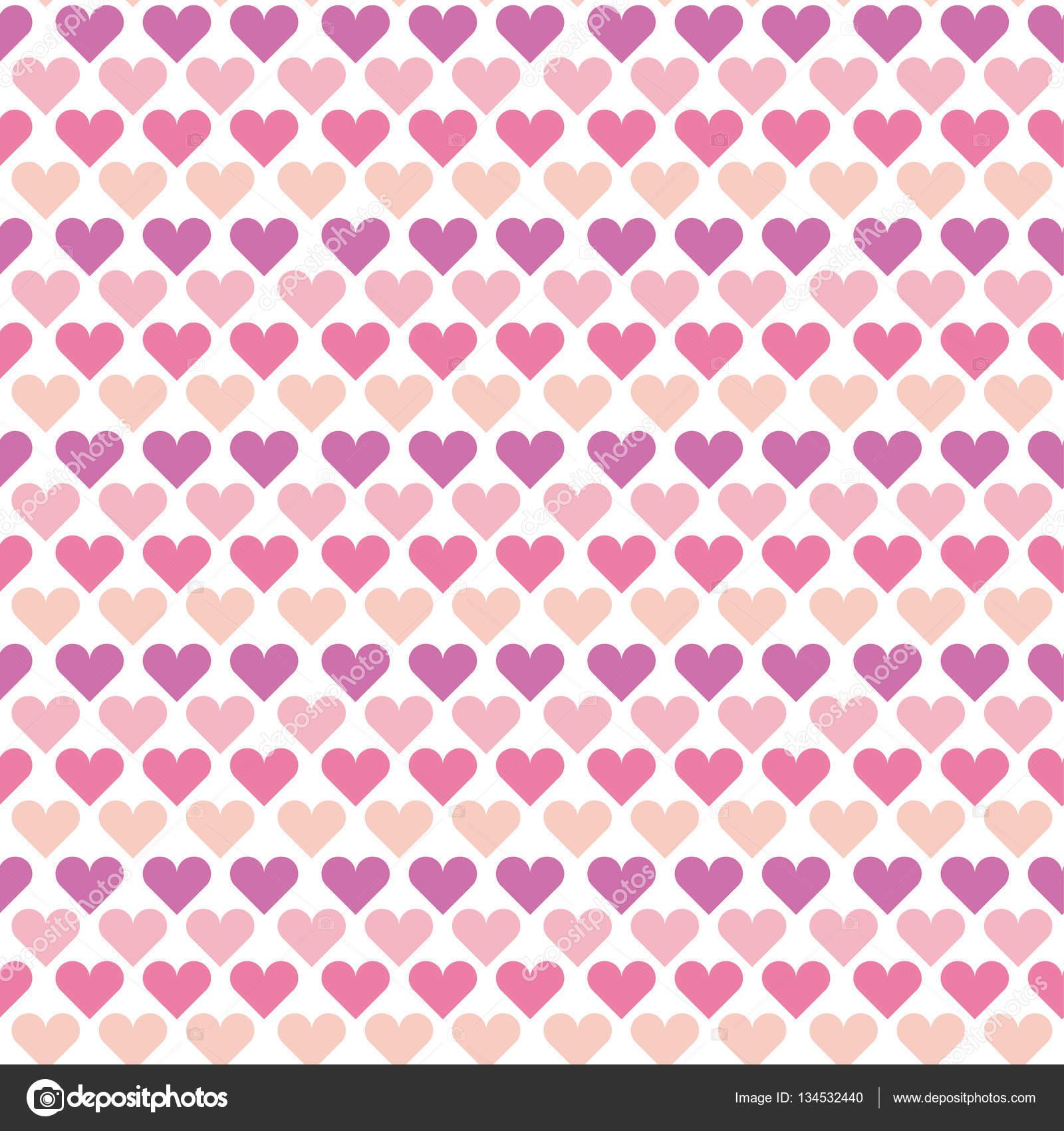Valentine nahtlose Polka Dot Muster mit bunten Herzen. einfach ...