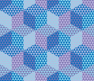 geometry hexagon color seamless fabric sample. geometric pattern