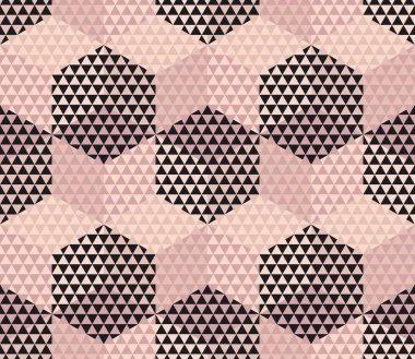 pale color geometry hexagon seamless fabric sample. geometric pa