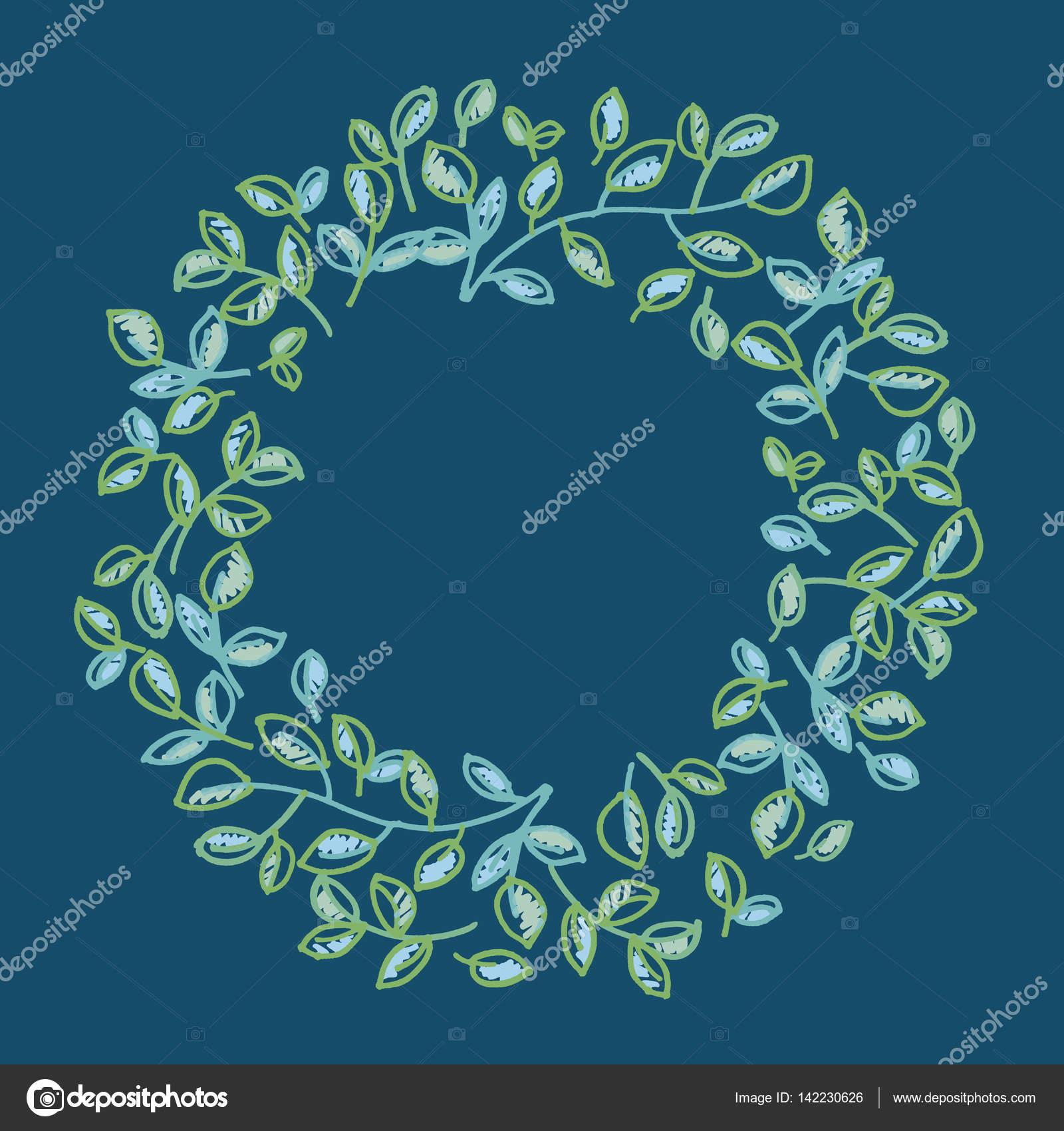 fresh spring color decorative leaves frame. foliage tender ornam ...
