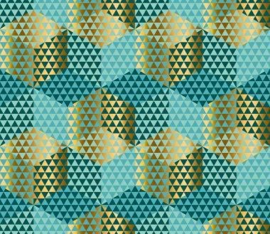 Geometry motif in lizard or snake skin style. Green seamless pat