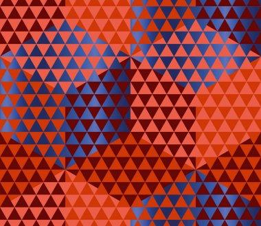 Geometry motif in luxury carnival style. harlequin seamless patt