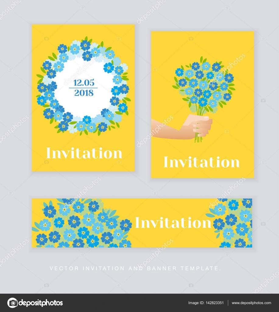 Spring Blossom Einladung Kartenvorlage. einfache elegante florale v ...