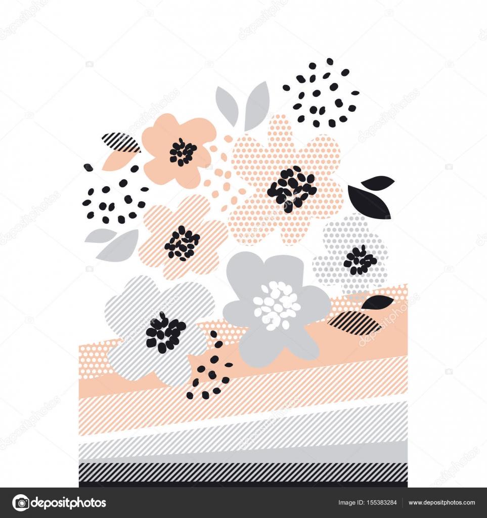 Illustration Vectorielle De Couleur Pâle Romantique Dessin