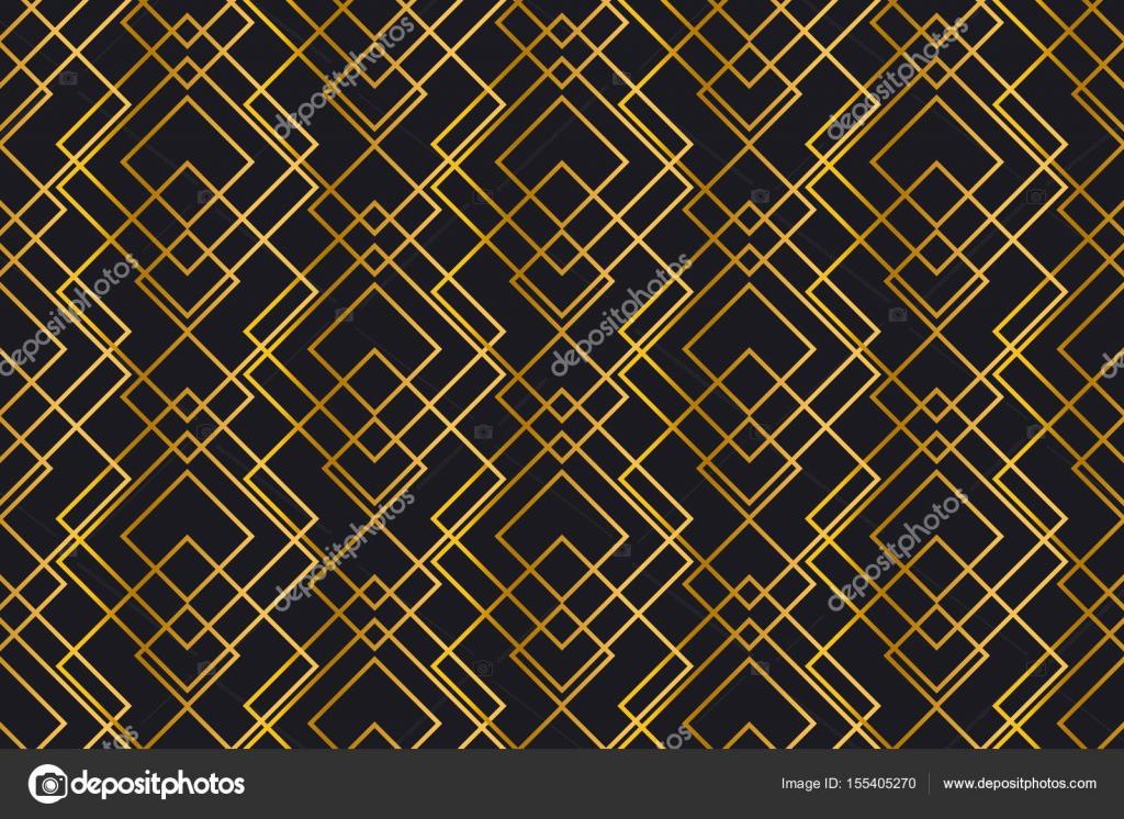 Textura Dorada. Sin Fisuras Patrón Geométrico. Fondo De