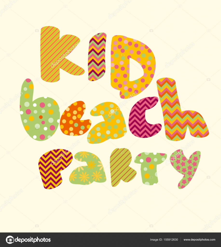 Kid style lettering birthday party vector illustration bright kid style lettering birthday party vector illustration bright summer letters for childish header invitation thecheapjerseys Images