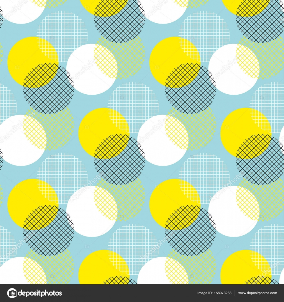Summer color geometry seamless pattern vector illustration surface ...