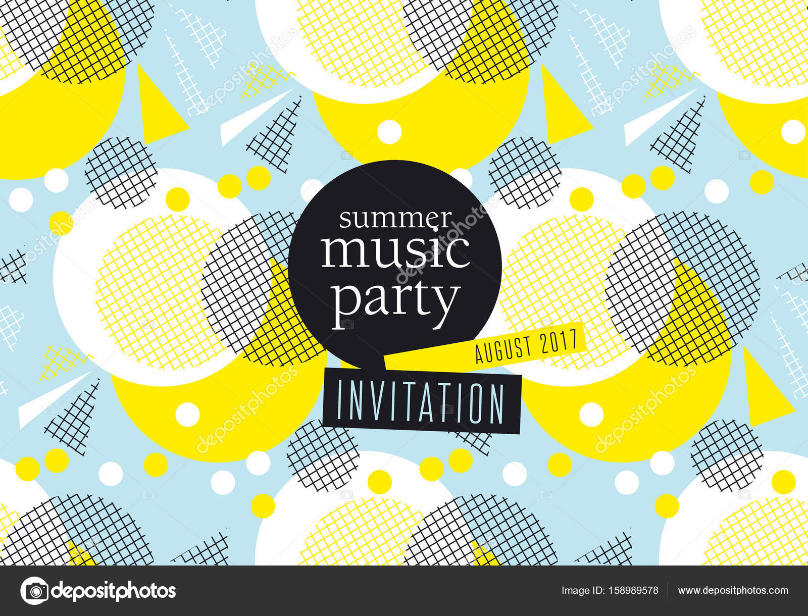 concept modern abstract party poster vector illustration print and