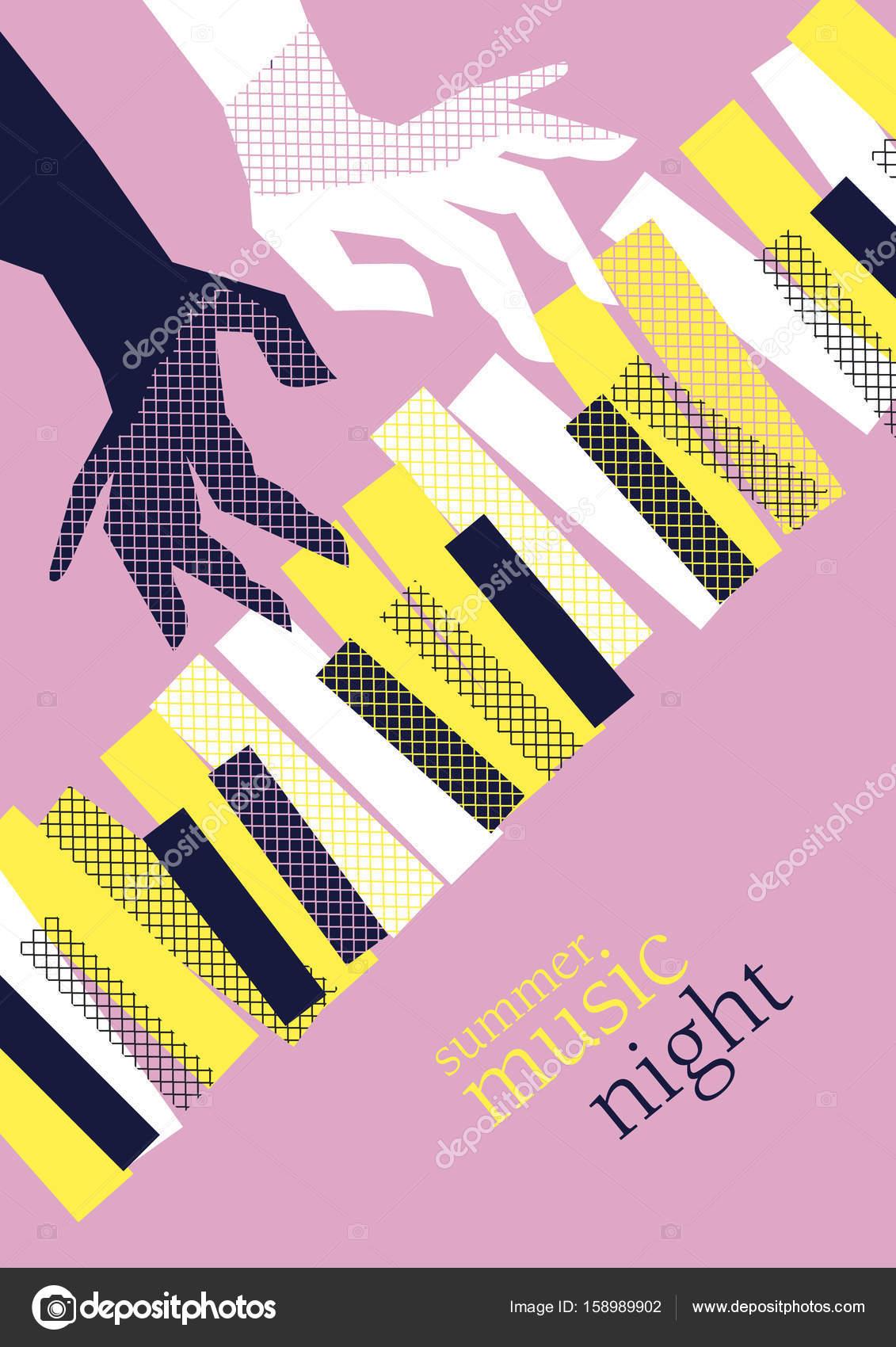 Ilustración de vector de cartel de música moderna de concepto ...