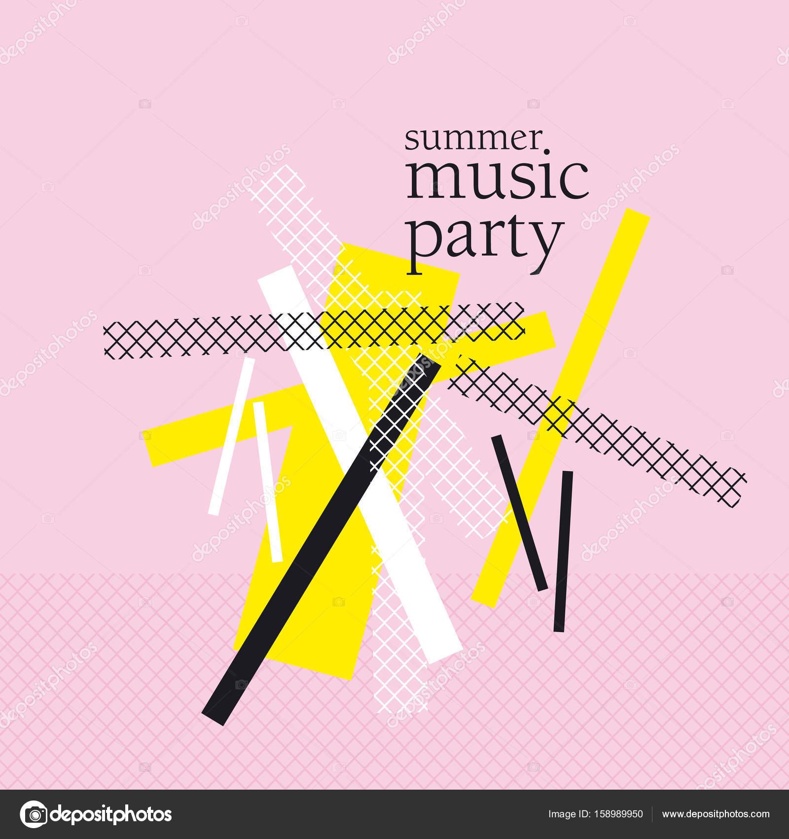 Konzept-moderne abstrakte Partei-Plakat-Vektor-Illustration. Print ...
