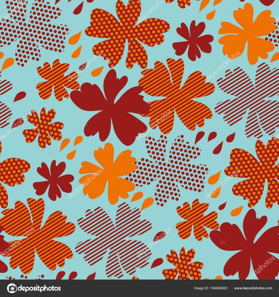 stilisierte Herbst florale Muster Vektorgrafik. fallen Sie heiße ...