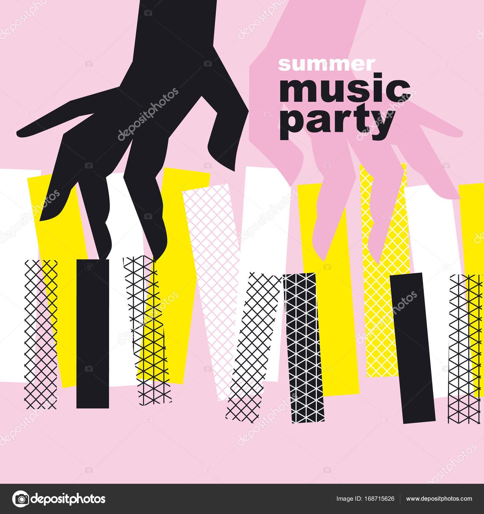 Konzept-moderne Musik-Poster-Vektor-Illustration. Print und Web ...
