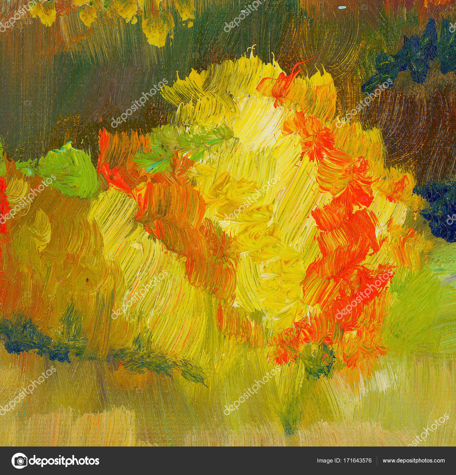 Abstract Fall Color Oil Paint Background Colorful Paint