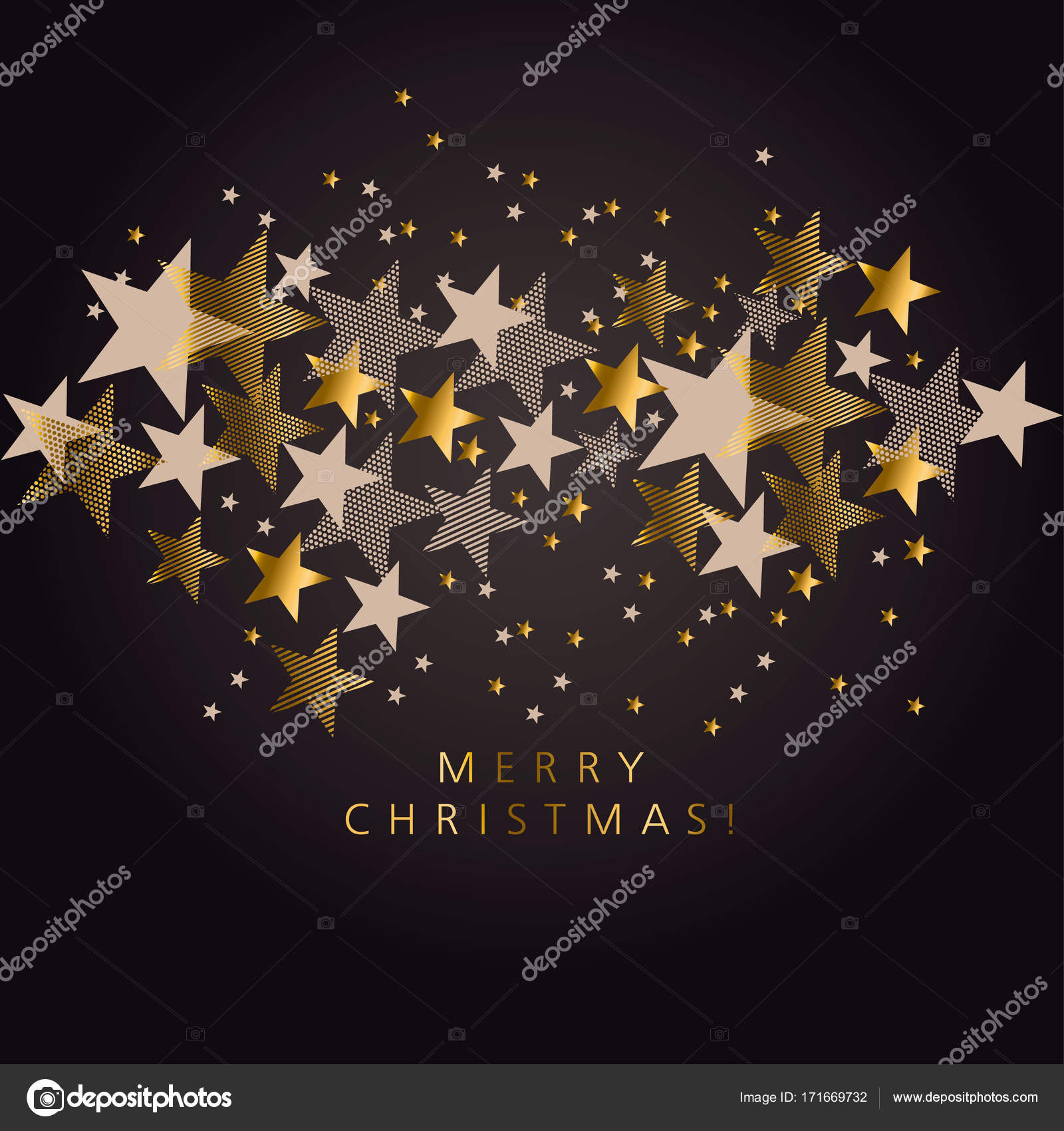 63227034c Lujo negro y dorado Navidad patrón de estrellas. Elegante decoración simple  para el diseño de