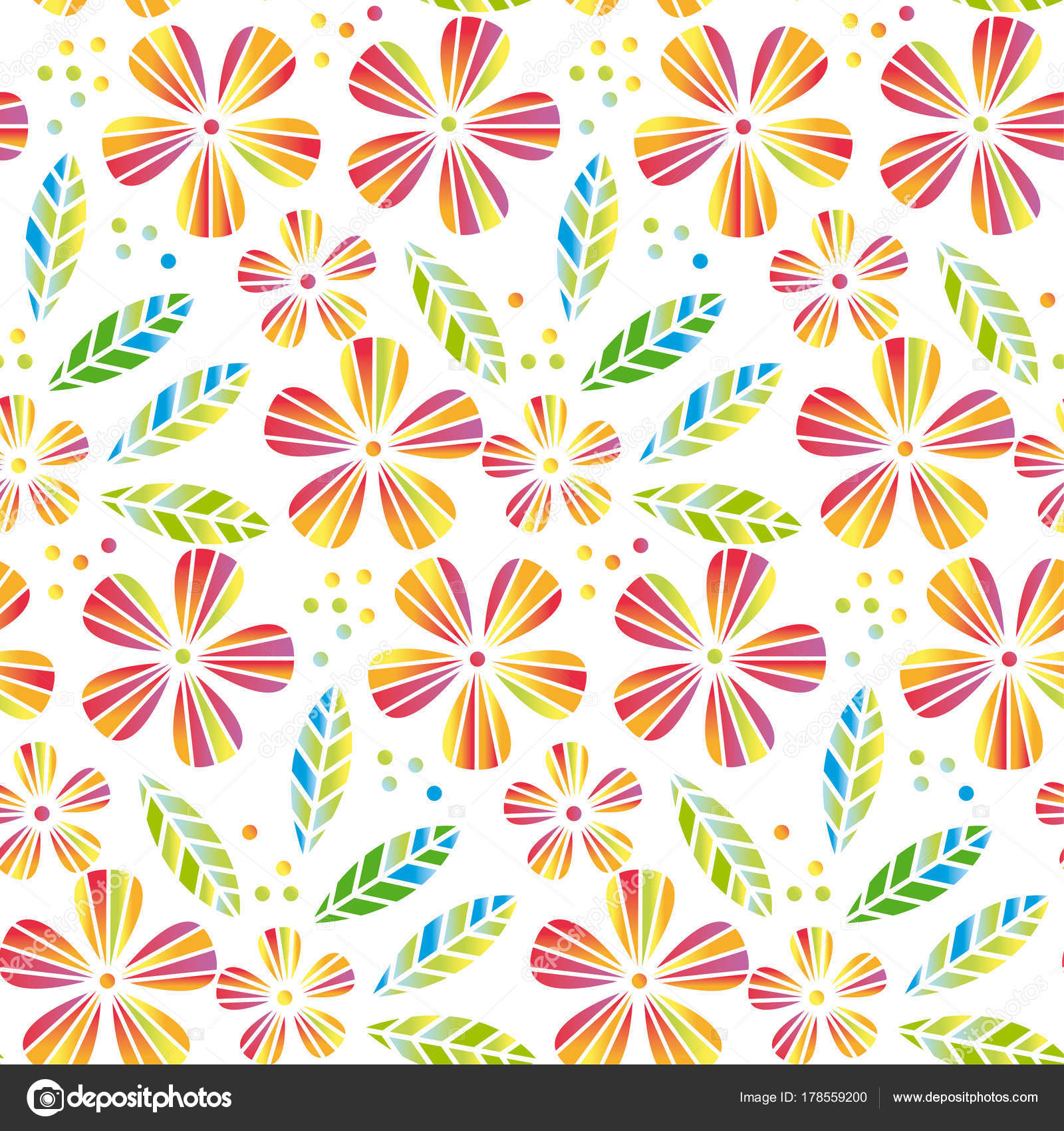 Tropical flowers and leaves simple and decorative vector seamless tropical flowers and leaves simple and decorative vector seamless element for surface design wrapping paper mightylinksfo