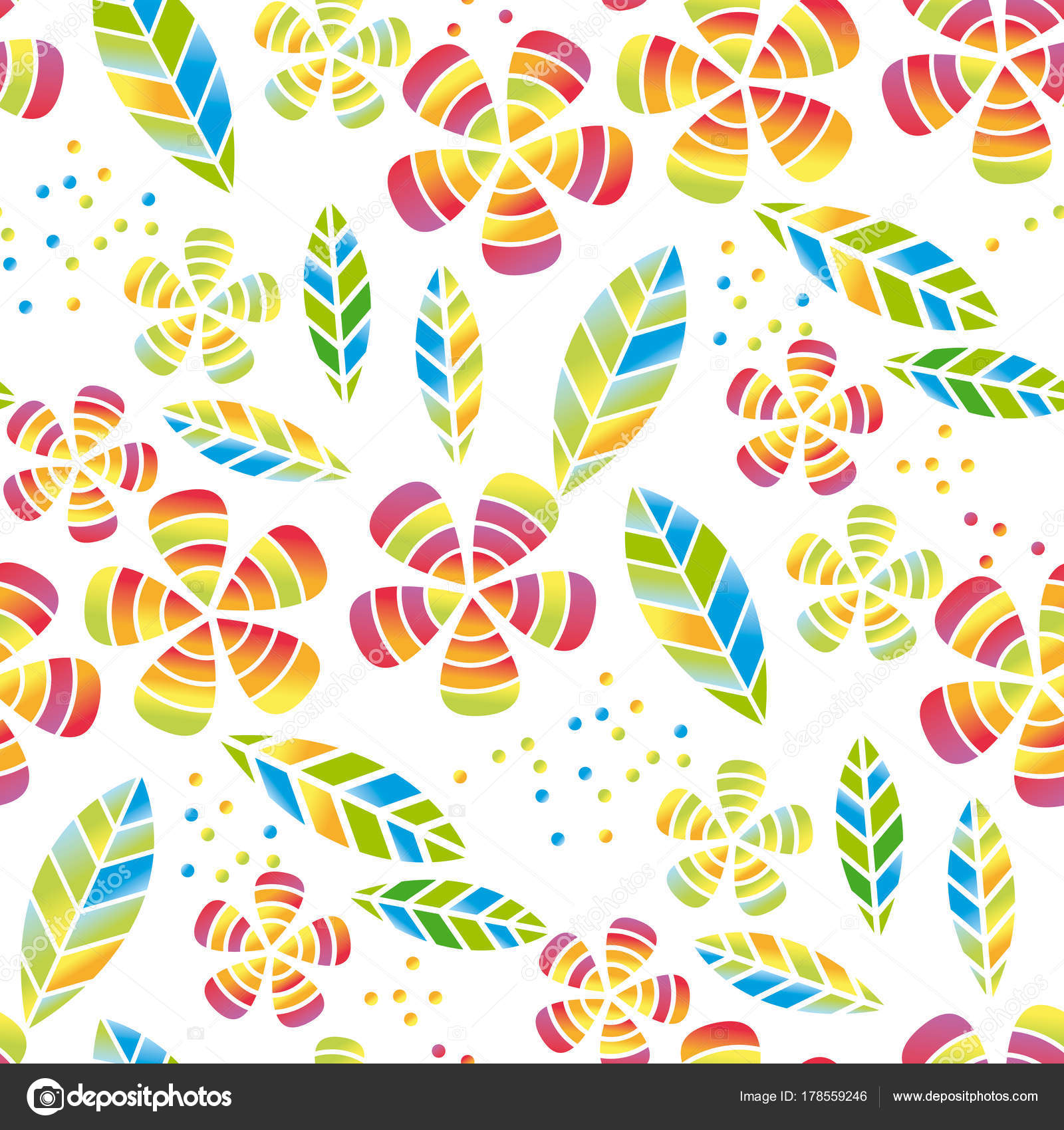 Tropical Flowers And Leaves Simple And Decorative Vector Seamless