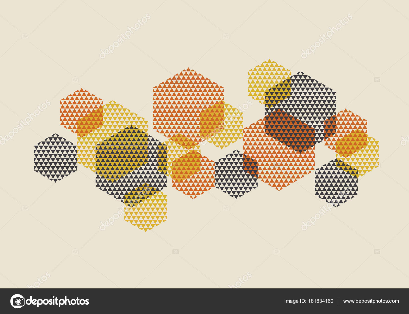 Geometric pattern vector illustration in retro 60s style vintage geometric pattern vector illustration in retro 60s style vintage 1970s geometry shapes graphic abstract design element for invitation header poster stopboris Choice Image