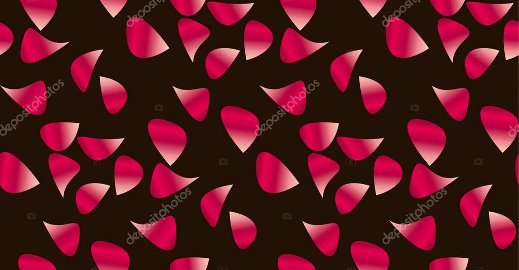 Rose flower petal seamless pattern.