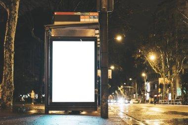 dvertising light box on bus stop