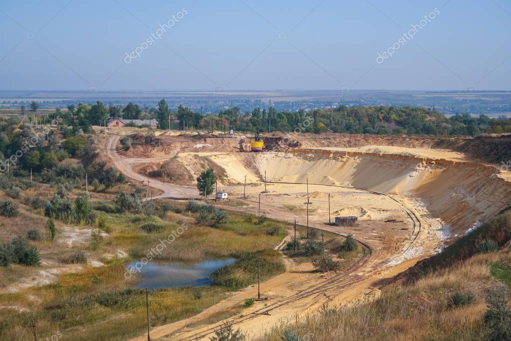 Sand quarry near the town