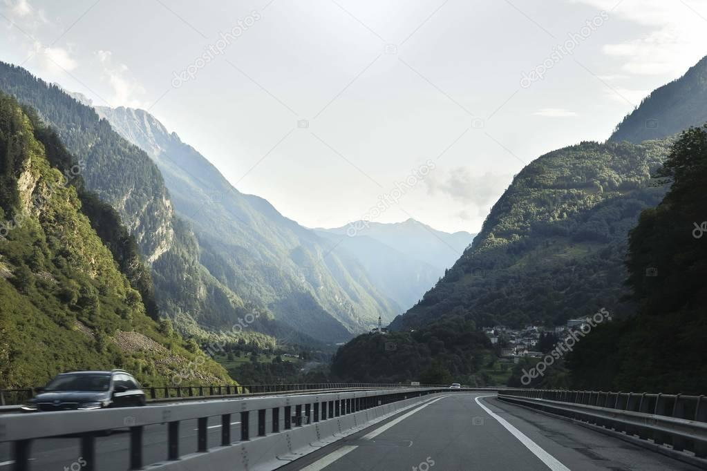 the autobahn in Switzerland