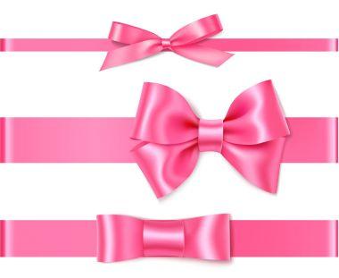Set of Beautiful pink bows