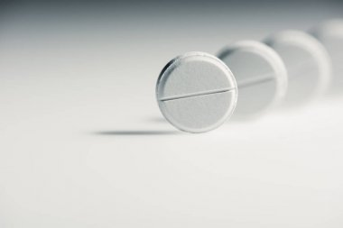 Round white tablets