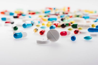 Pile of colorful pills