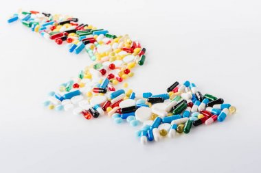 arrow made of medical pills