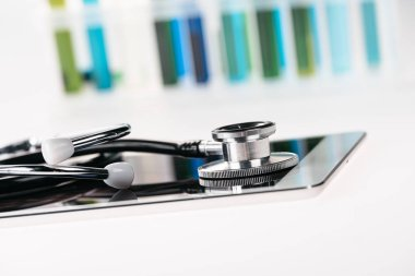stethoscope and digital tablet