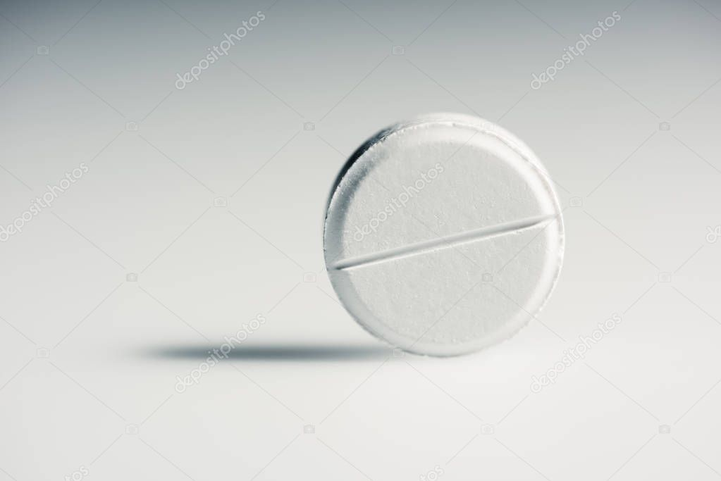 Round white tablet