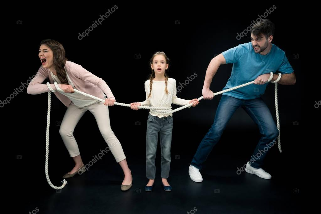 Daughter with young parents