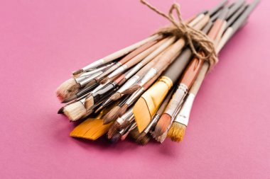 Various paintbrushes collection