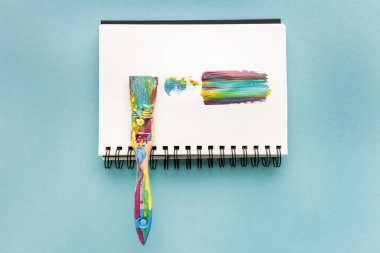 brush and colorful brushstroke