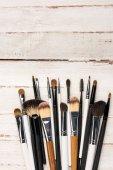 Fotografie various makeup brushes