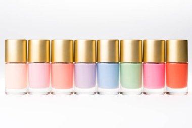 colorful nail polishes