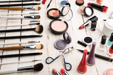 Brushes and decorative cosmetics