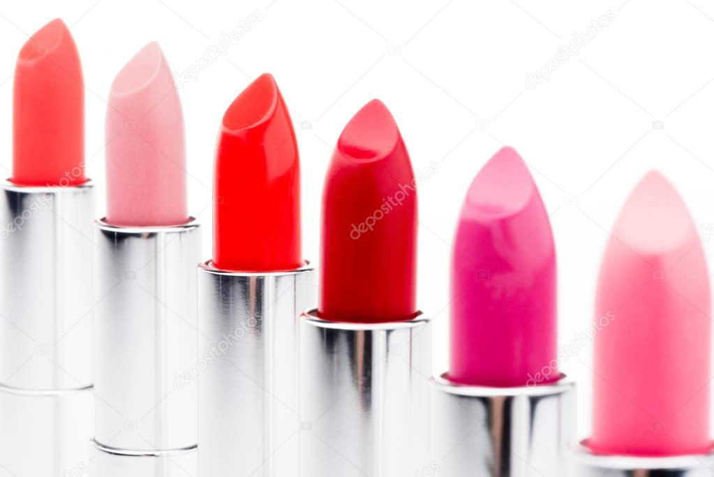 Set of fashionable lipsticks