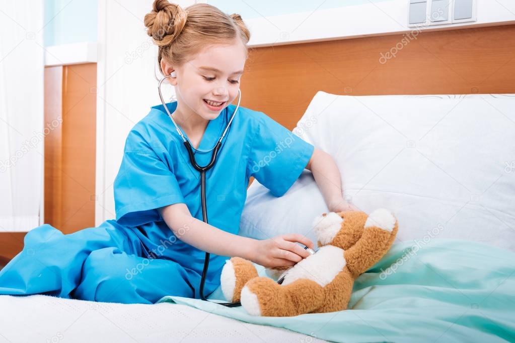 girl nurse in uniform