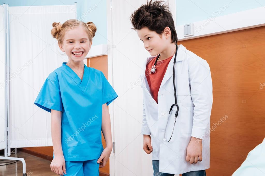 kids playing doctor and nurse