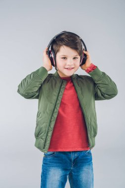 Cute boy with headphones