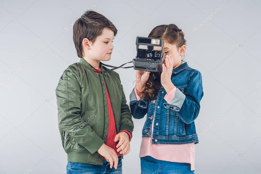 Children taking pictures