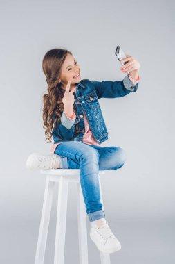 Girl using smartphone